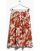 Mango Floral Print Skirt - Lyst