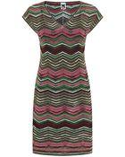 M Missoni Chevron Knit Dress - Lyst
