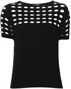 Piazza Sempione Perforated Knitted Top - Lyst