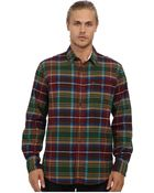 French Connection Essential Brushed Twill Check Ls Shirt - Lyst