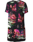 Balenciaga Forest Print T-shirt Dress - Lyst