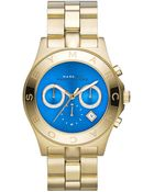 Marc By Marc Jacobs Women'S Chronograph Blade Gold-Tone Stainless Steel Bracelet Watch 40Mm Mbm3307 - Lyst