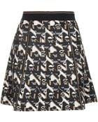 Topshop Metro Jacquard Skirt  Camel - Lyst