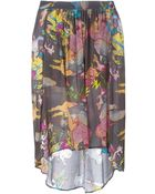 Zadig & Voltaire Curved Hem Printed Skirt - Lyst
