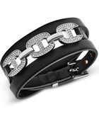Michael Kors Silver-Tone And Glitz Maritime Link Wrap Bracelet - Lyst