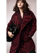 Burberry Graphic Jacquard Cocoon Coat - Lyst