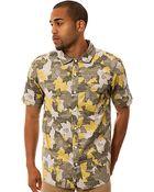 LRG The Woodgrain Camo Ss Buttondown Shirt - Lyst
