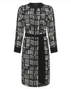 Jaeger Silk Cube Print Dress - Lyst