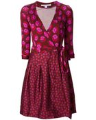 Diane von Furstenberg Jewel Wrap Dress - Lyst