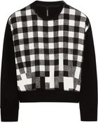 Neil Barrett Cottonblend and Checked Satin Sweatshirt - Lyst