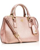 Tory Burch Robinson Micro Double-Zip Tote - Lyst