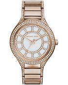 Michael Kors Kerry Rose Goldtone Stainless Steel & Mother-Of-Pearl Glitz Bracelet Watch - Lyst