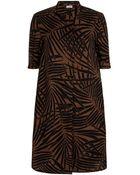 Hobbs Palm Print Dress - Lyst