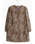 Violeta By Mango Leopard Wool-Blend Coat - Lyst