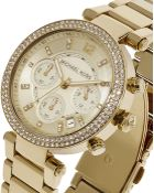 Michael Kors Parker 39Mm Chronograph Glitz Watch - Lyst