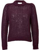 3.1 Phillip Lim Wool Blend Textured Knit Pullover - Lyst