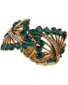 Oscar de la Renta Cutout Jeweled Cuff Bracelet - Lyst