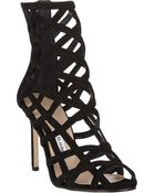 Manolo Blahnik Vagibu Caged Sandals - Lyst