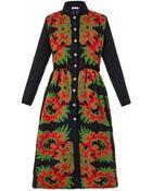 Tak.ori Floral Intarsia-Knit Coat - Lyst