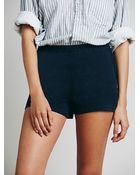 Free People Womens Side Zip High Rise Short - Lyst