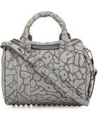 Alexander Wang Rockie Laser-Cut Pebbled Leather Satchel Bag - Lyst