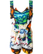 Vivienne Westwood Anglomania Mixed Print Playsuit - Lyst