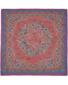 Liberty London Red Paradise Garden Silk Scarf - Lyst