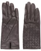 Bottega Veneta Woven Nappa Leather Gloves - Lyst
