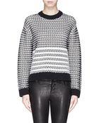 Proenza Schouler Side Zip Chunky Float Knit Sweater - Lyst