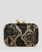 Kotur Clutch Margo Printed Snake Minaudiere - Lyst