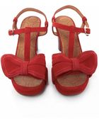Chie Mihara Bow Suede Sandals - Lyst