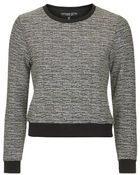 Topshop Petite Exclusive Jacquard Sweat - Lyst