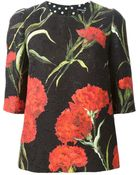 Dolce & Gabbana Carnations Print Embossed Top - Lyst