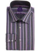 English Laundry Long-Sleeve Wide Stripe Dress Shirt - Lyst