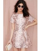 Nasty Gal On The Prowl Fit And Flare Dress - Lyst