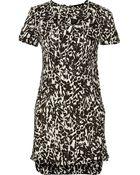 Isabel Marant Madlyn Printed Silk Crepe De Chine Dress - Lyst