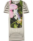 Peter Pilotto Romy Printed Stretch-Silk Dress - Lyst