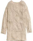 H&M Oversized Linen-Blend Jumper - Lyst