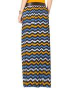 MICHAEL Michael Kors Printed Jersey Slit Maxi Skirt - Lyst