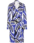 Diane von Furstenberg New Jeanne Two Printed Silk Wrap Dress - Lyst