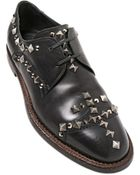 Dolce & Gabbana 25Mm Studded Leather Derby Lace-Up Shoes - Lyst