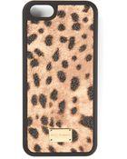 Dolce & Gabbana Leopard Print Iphone5 Case - Lyst