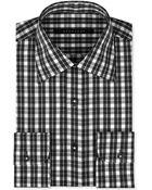 Sean John Black and White Check Dress Shirt - Lyst