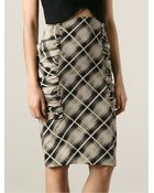 Emanuel Ungaro Checked Pencil Skirt - Lyst