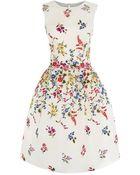 Oscar de la Renta English Garden Embroidered Dress - Lyst