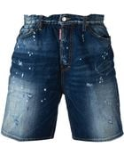 DSquared2 Denim Shorts - Lyst