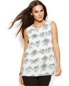 DKNY Sleeveless Printed Tiered Top - Lyst