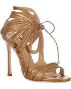 Chelsea Paris Snakeskin Ada Strappy Sandals - Lyst