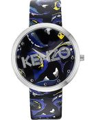 Kenzo It-Print Leather Watch - For Men - Lyst