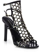 Tamara Mellon Submission Studded Patent Leather Sandals - Lyst